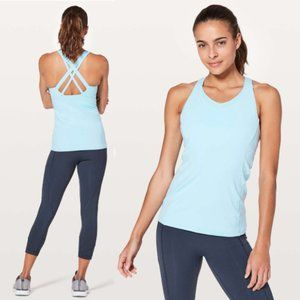 Lululemon Baby Blue Strappy Active Workout Tank 4